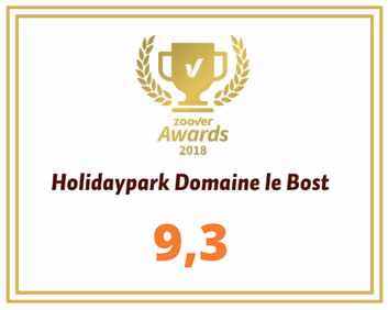 Domaine le Bost is Zoover award winner